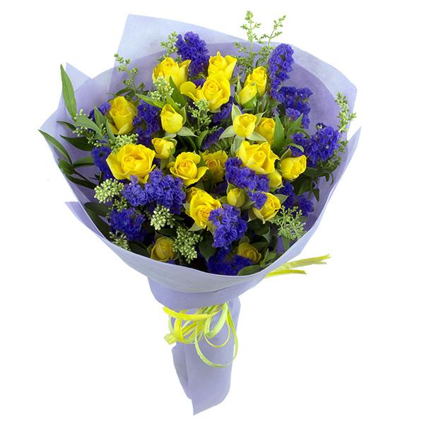 Жълти спрей рози