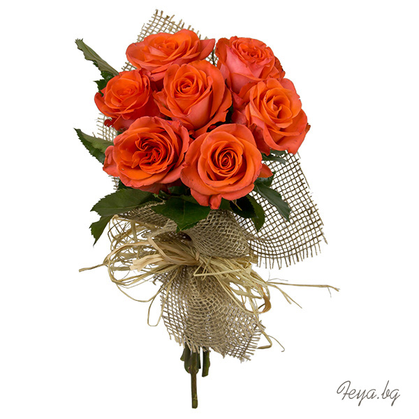 Orange roses and something else