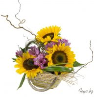 Arrangement with sunflowers
