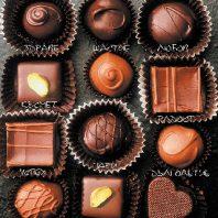 Картичка с бонбони