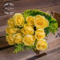 Жълти рози 11 бр.