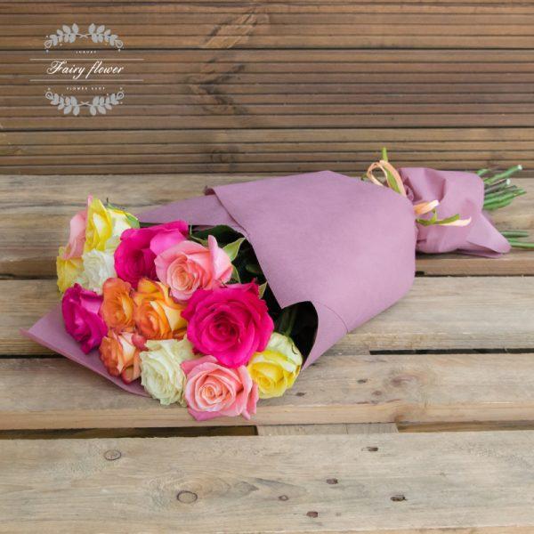 15 рози рейнбоу