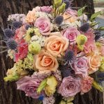 Булчински букет цветен
